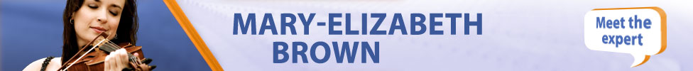 Mary-Elizabeth Brown - beginning & intermediate violin expert
