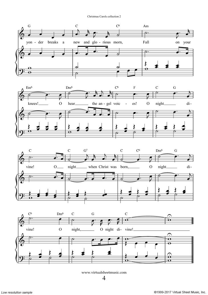Free O Holy Night Sheet Music With Lyrics And Mp3 Audio