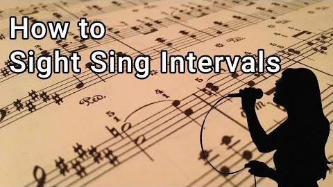 How to Sight Sing Intervals