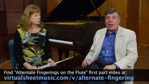 Alternate Fingerings on the Flute, Part 2
