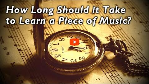 How Long Should it Take to Learn a Piece of Music?