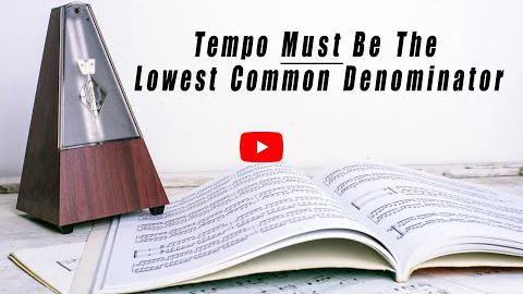 Tempo Must be the Lowest Common Denominator