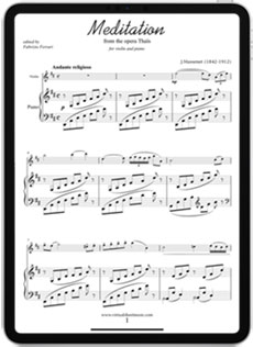 Score View Meditation from Thais for violin and piano