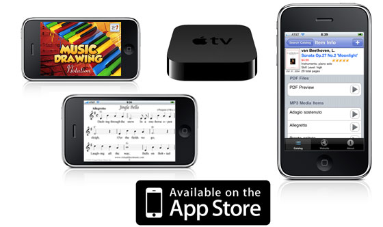 Vitual Sheet Music - Free Mobile, iPhone and AppleTV Applications