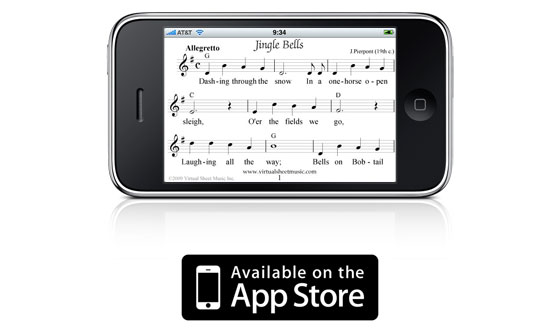 Christmas Sheet Music and Carols Free iPhone and iPod Touch Application