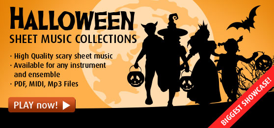 Halloween Sheet Music to Download & Print [Biggest Selection]