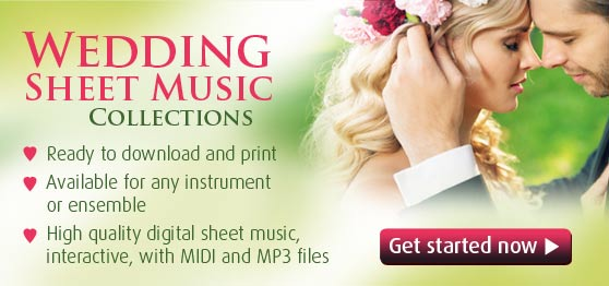 Wedding Sheet Music to Download and Print [Top Quality PDFs]